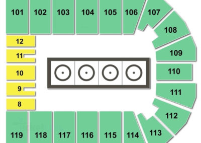 Orleans Arena Wrestling Seating Chart