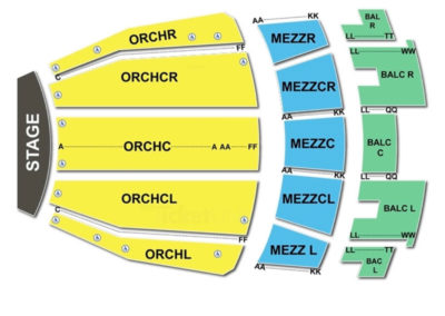 Ovens Auditorium Seating Chart Concert