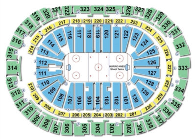 PNC Arena Hockey Seating Chart