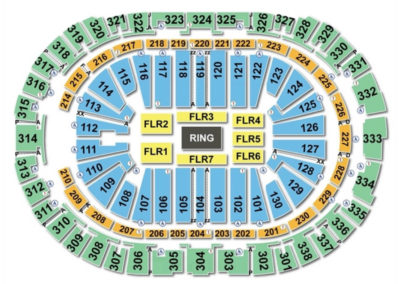 PNC Arena Wrestling Seating Chart