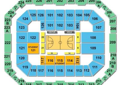 Pauley Pavilion Seating Chart Basketball