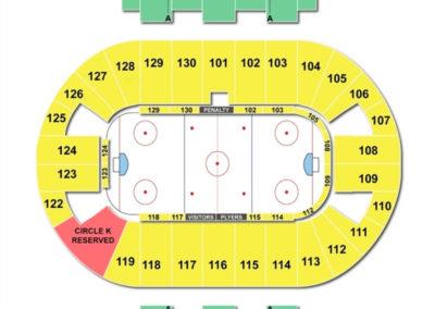 Pensacola Bay Center Hockey Seating Chart