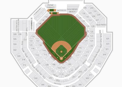 Petco Park Seating Charts