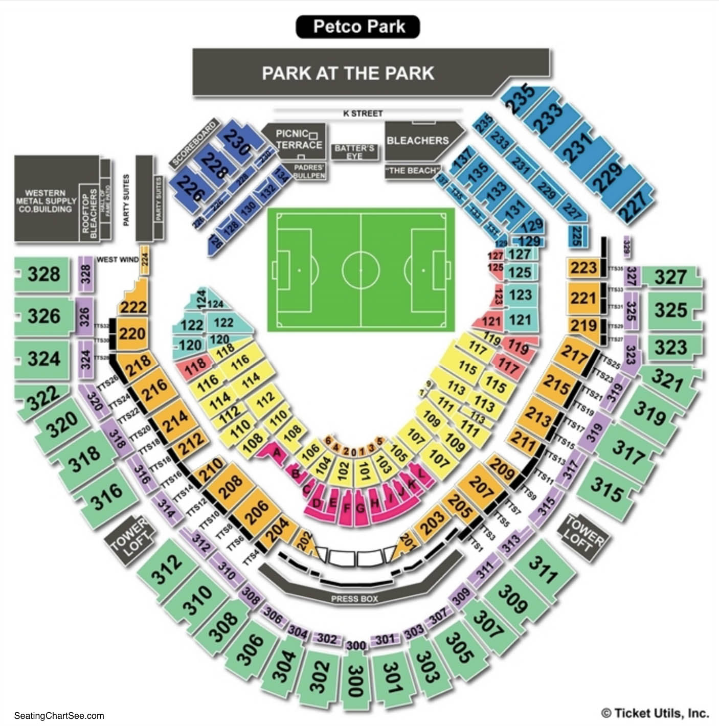 Petco Park Soccer Seating Chart