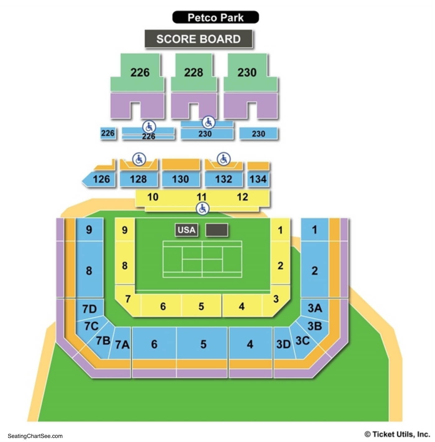 Petco Park Tennis Seating Chart