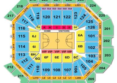 Petersen Events Center Basketball Seating Chart