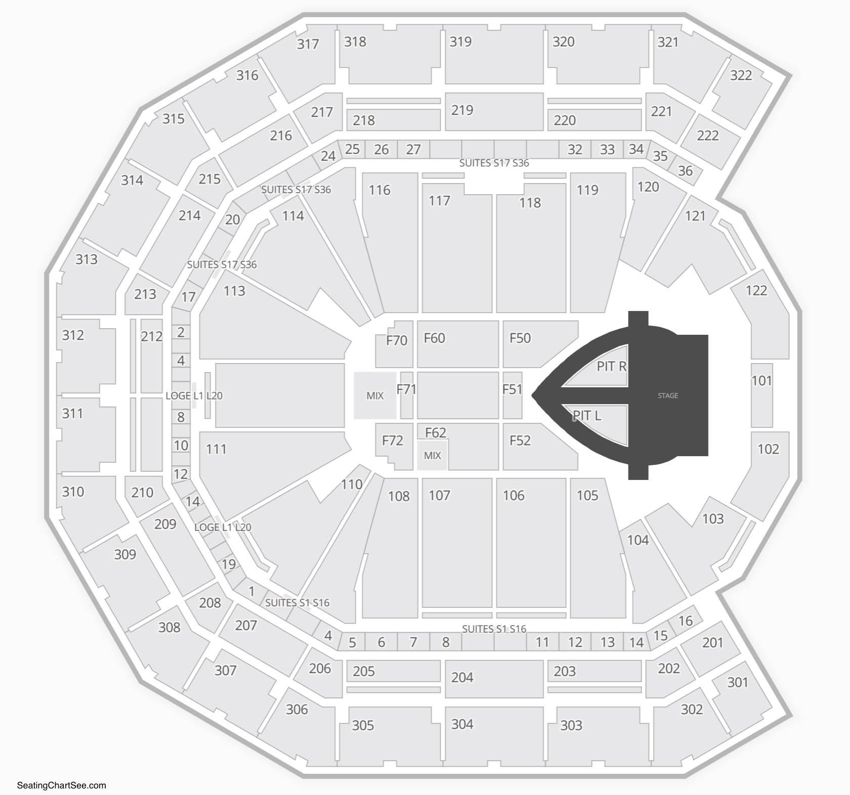 Pinnacle Bank Arena Seating Chart