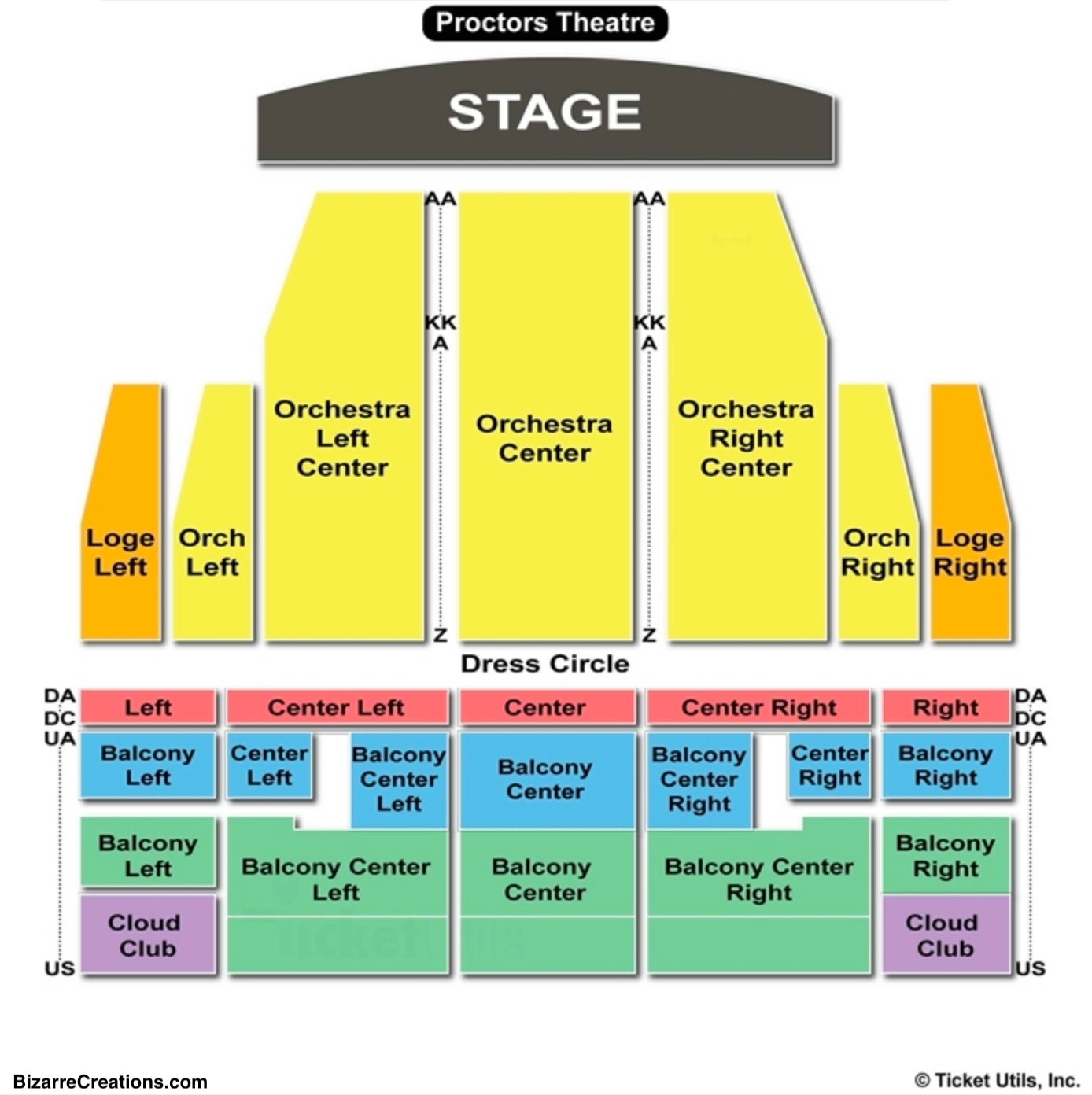 Proctors Theatre Seating Chart Schenectady