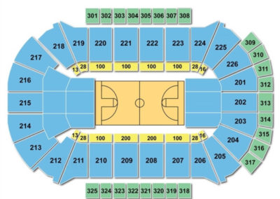 Resch Center Seating Chart Basketball