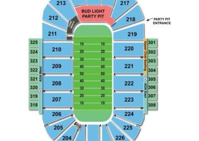 Resch Center Seating Chart Football