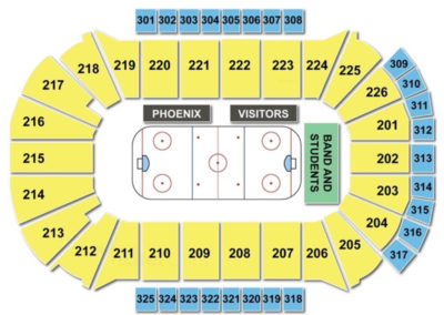 Resch Center Seating Chart Hockey