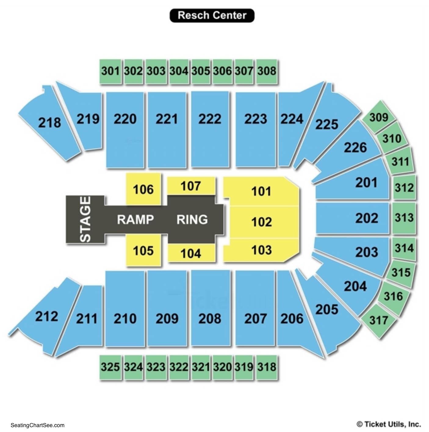 Resch Center Seating Chart WWE