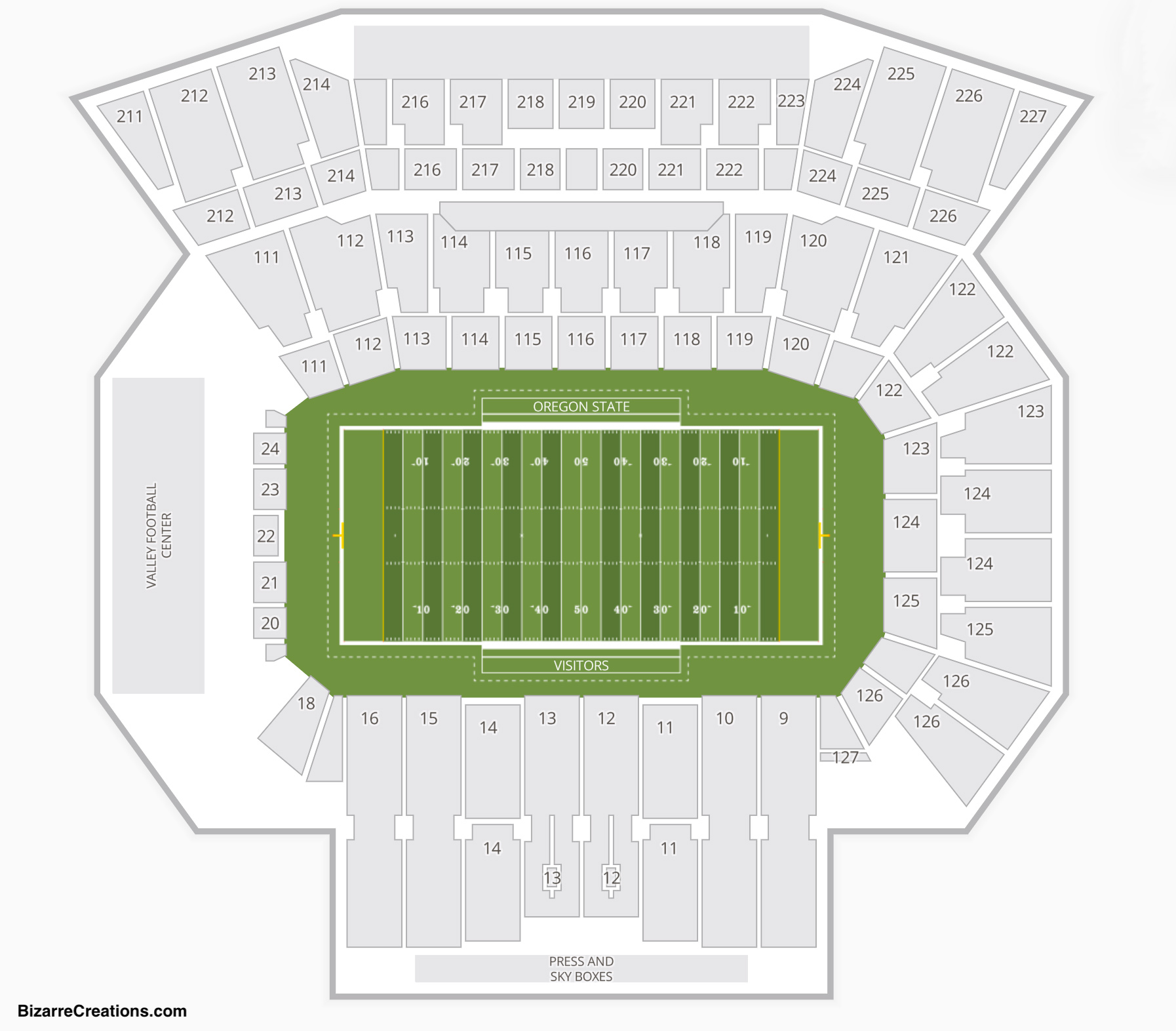 Reser Stadium Seating Chart Concert