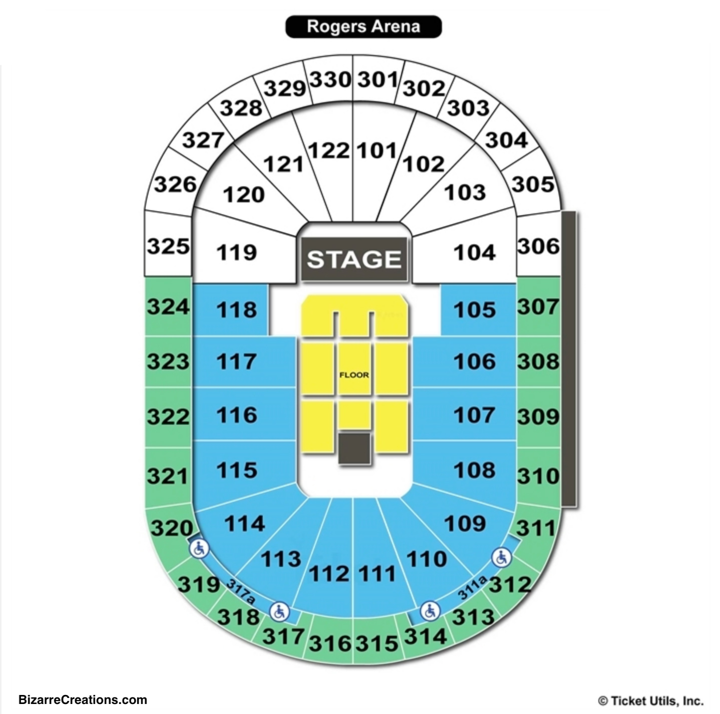 Rogers Arena Concert Seating Chart