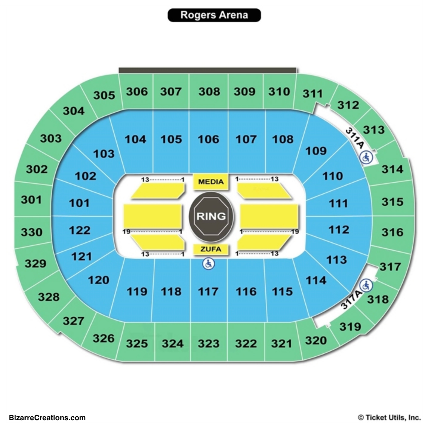 Rogers Arena Seating Chart UFC
