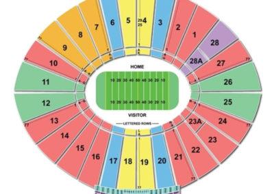 Rose Bowl Football Seating Chart