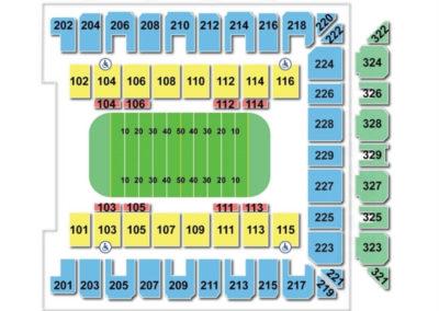 Royal Farms Arena Seating Chart Football