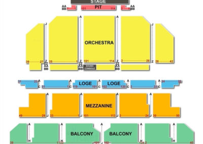SHN Golden Gate Theatre Seating Chart