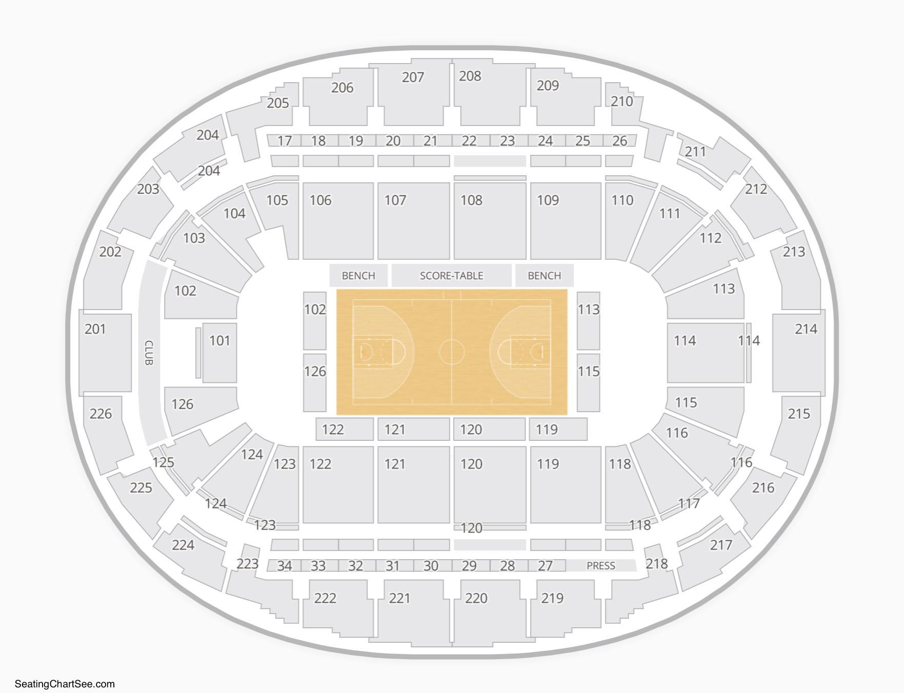SNHU Arena Seating Chart