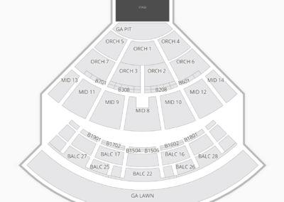 Saratoga Performing Arts Center Seating Chart Concert