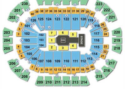 Save Mart Center Seating Chart WWE