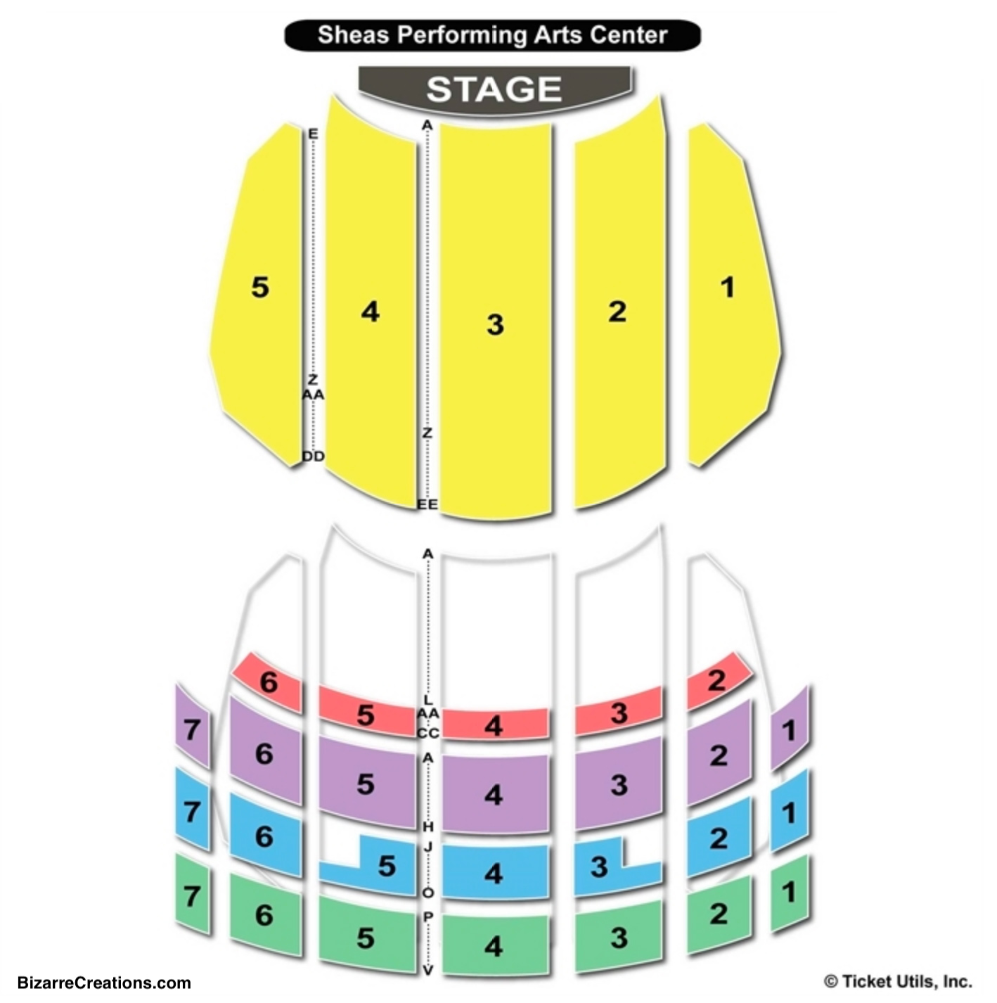 Sheas Seating Chart Concert