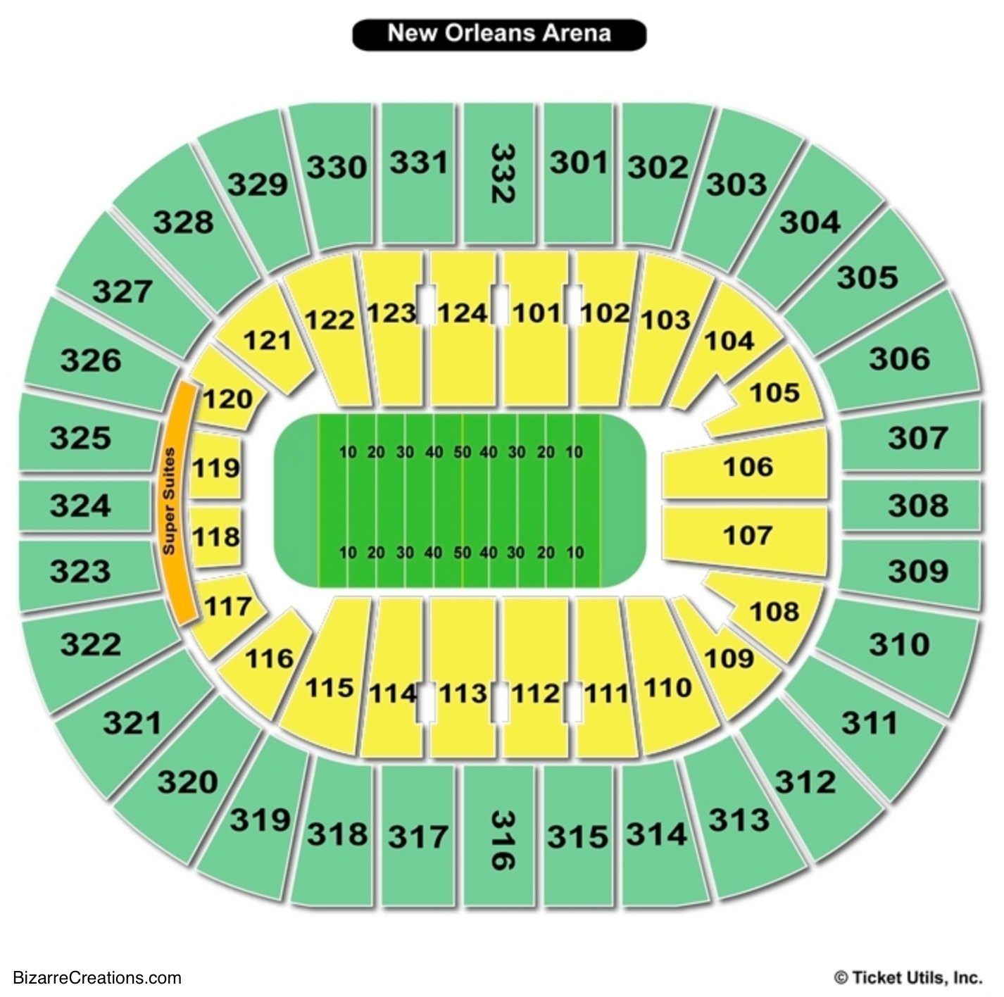 Smoothie King Center Football Seating Chart