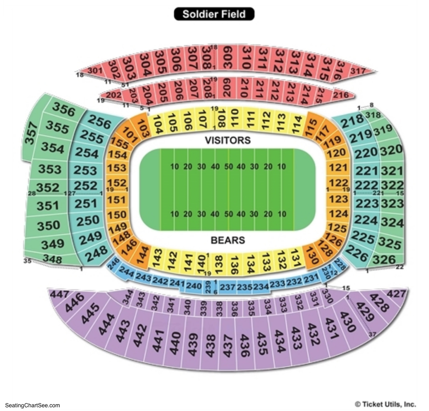 Soldier Field Seating Chart Football