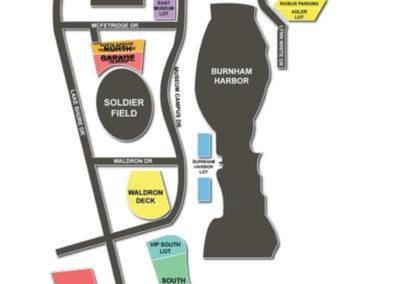 Soldier Field Parking Lots