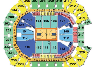 Spectrum Center Basketball Seating Chart