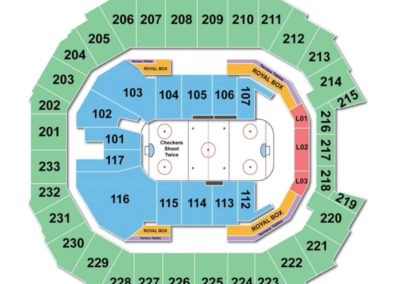 Spectrum Center Hockey Seating Chart