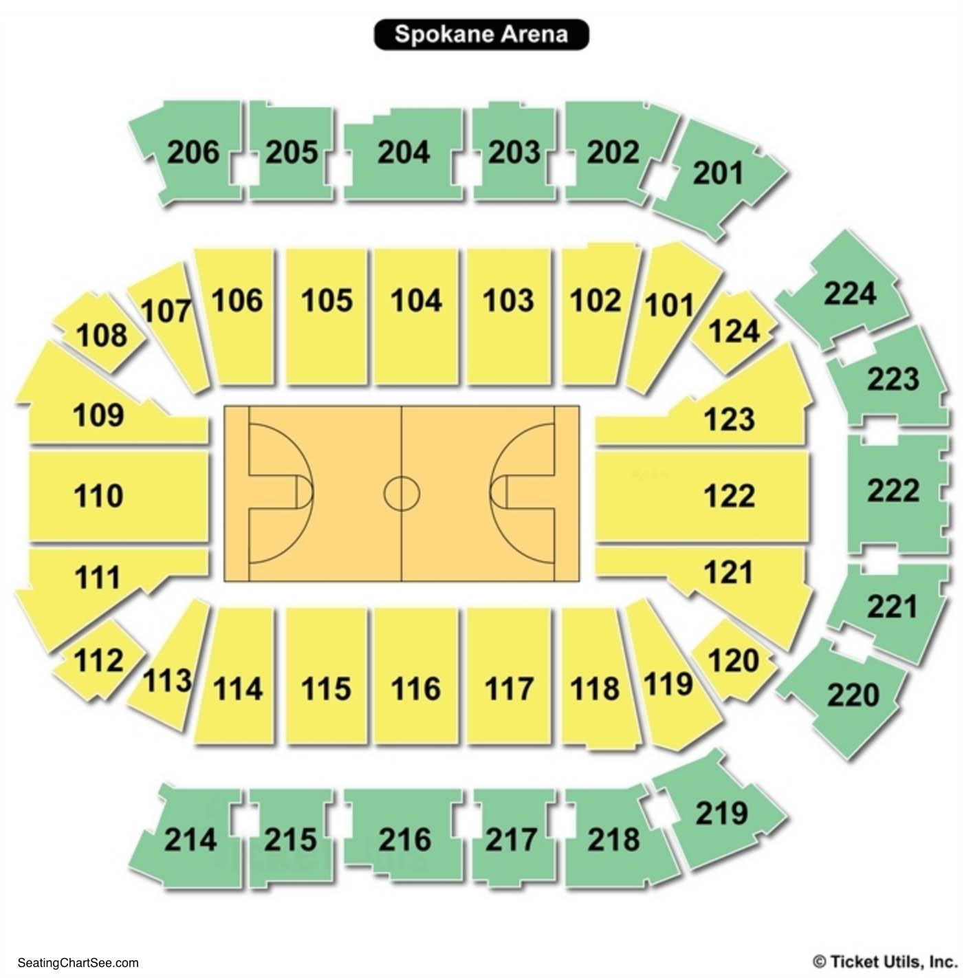 Spokane Arena Seating Chart Basketball