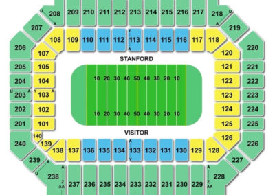 Stanford Stadium Seating Chart Football