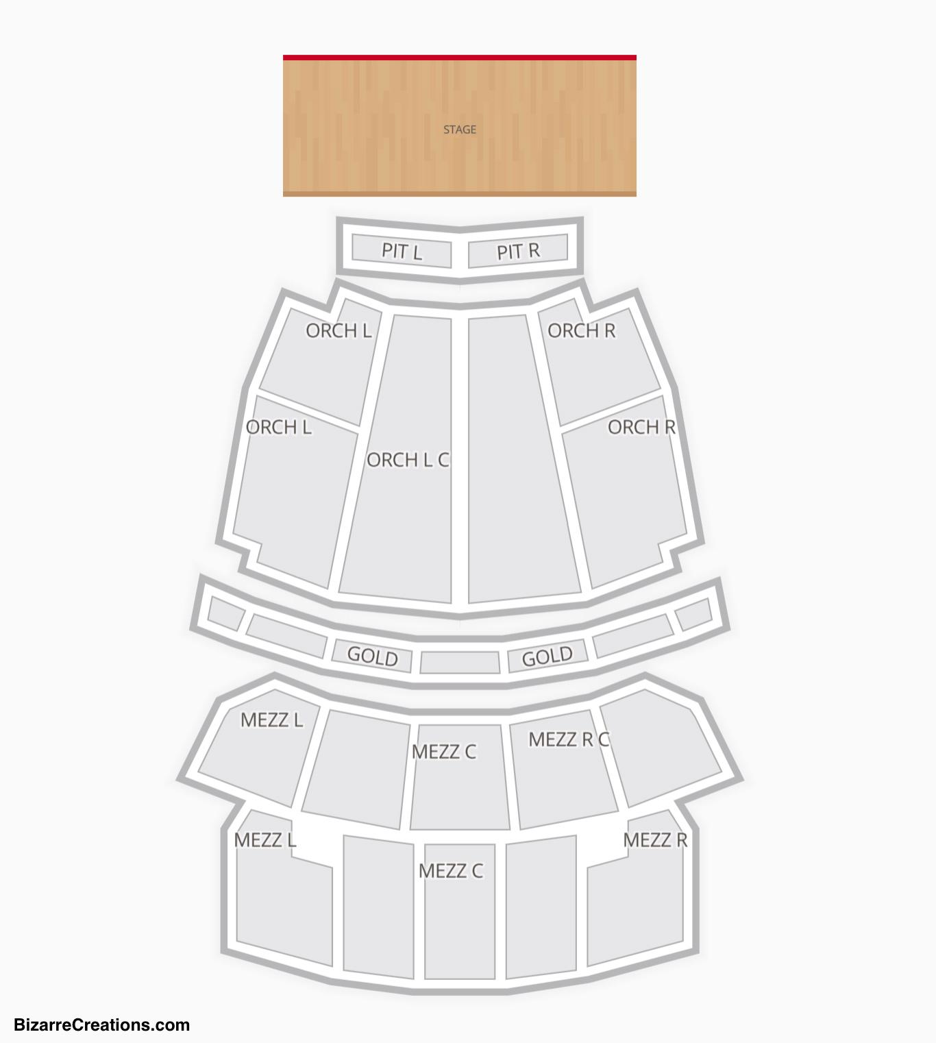 Stifel Theatre Seating Chart Salina St Louis
