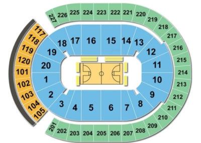 T-Mobile Arena Seating Chart Basketball