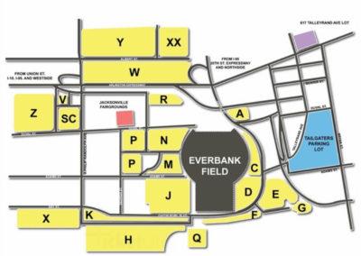 TIAA Bank Field Parking Lots