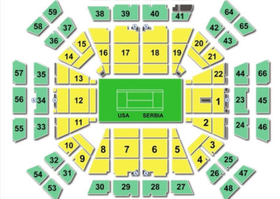Taco Bell Arena Seating Chart Tennis