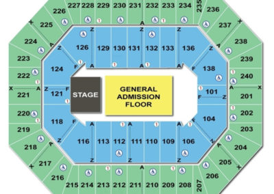 Target Center Concert GA Floor Seating Chart