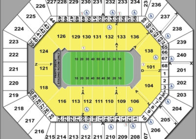 Target Center Seating Chart Football