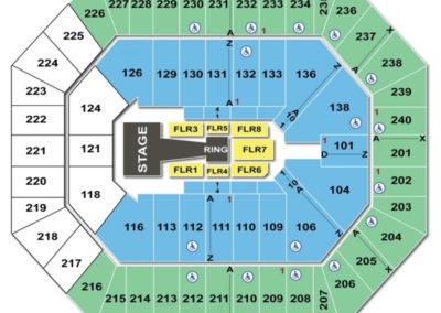 Target Center Seating Chart Wwe