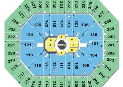 Target Center Seating Chart UFC