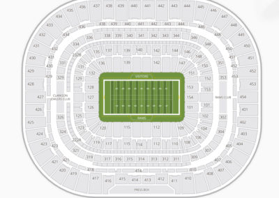 The Dome at America's Center Seating Chart Football
