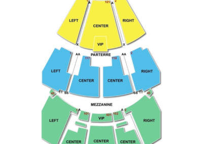 The Grand Theater at Foxwoods Resort Casino Seating Chart