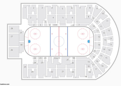 The Oncenter War Memorial Arena Seating Chart Hockey