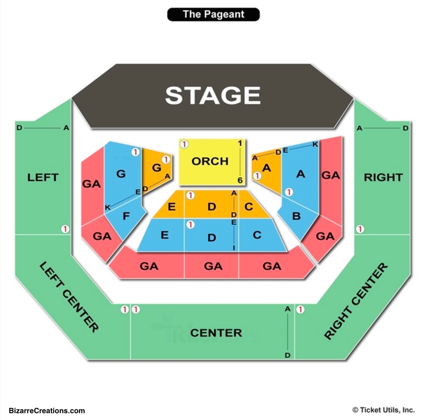 The Pageant Seating Chart St Louis