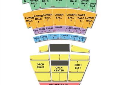 The Warfield Theatre Seating Chart San Fransisco