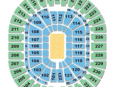 Thomas and Mack Center Seating Chart Basketball