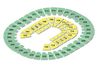 Thomas and Mack Center Seating Chart Gymnastics