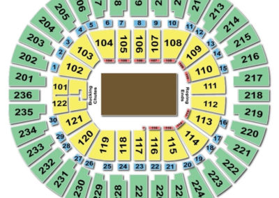 Thomas and Mack Center Seating Chart Rodeo
