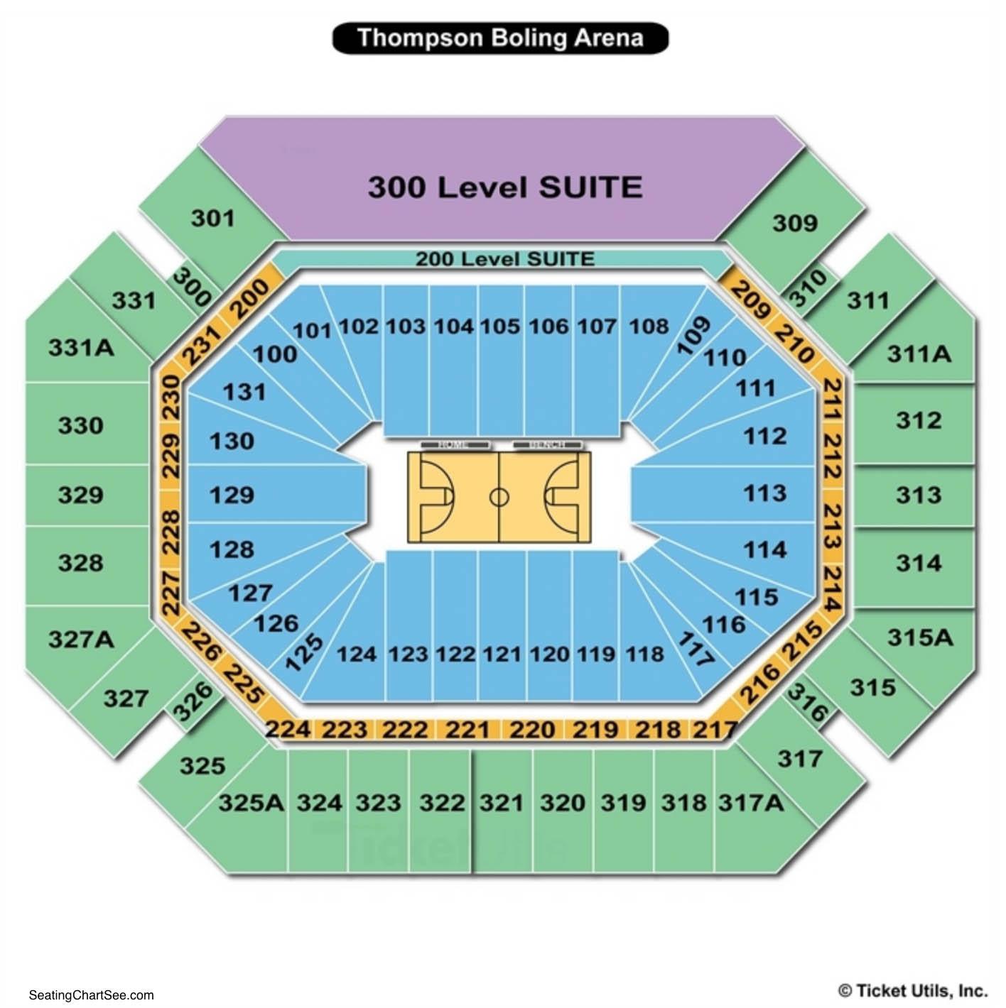 Thompson Boling Arena Basketball Seating Chart